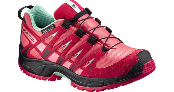 Salomon Kids XA Pro 3D CSWP Shoes Madder Pink/Lotus Pink/Lucite Green